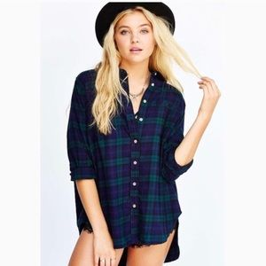 Urban Outfitters Navy flannel
